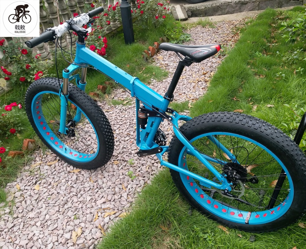 Kalosse Soft tail frame Hydraulic brakes 26*4.0 tires ...
