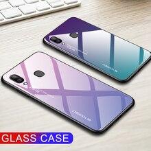 Funda de vidrio templado gradiente para Samsung Galaxy A20E, A20S, A20, A20, E S, A, 20e, A20e, Aurora, colorida