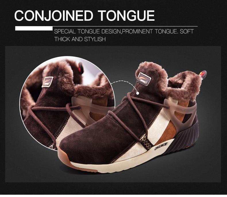 ONEMIX Winter Boots Men & Women Warm Wool Sneakers Outdoors Neutral Sports Sneakers Comfort Running Shoes Sale Size 36-45 16