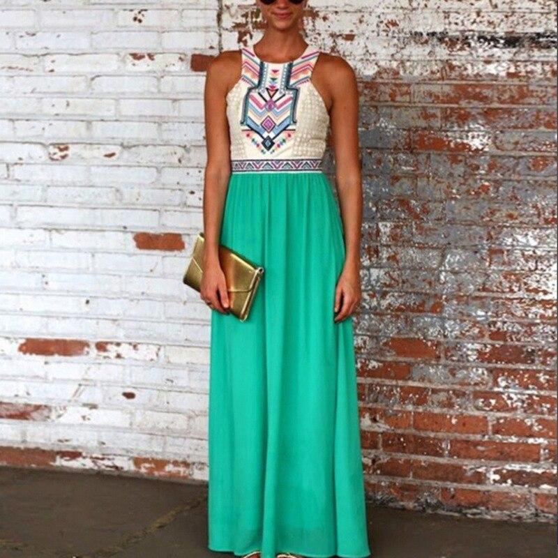 estinzione preferibile Affidabile  Women Summer Bohemian Floral Print Full Length Petite Maxi Dress|petite  maxi dress|maxi dressfloral print - AliExpress