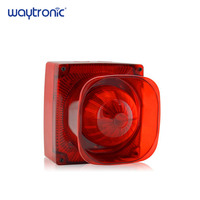 Strobe Siren Sound and Light Fire Alarm Waterproof Conventional Strobe Sounder Red Flash Light and Horn