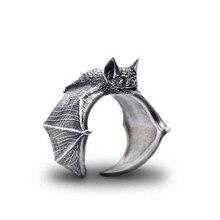 Elfin 2018 New Vintage Adjustable Bat Rings Fashion Cute Bat Jewellery Bradypus