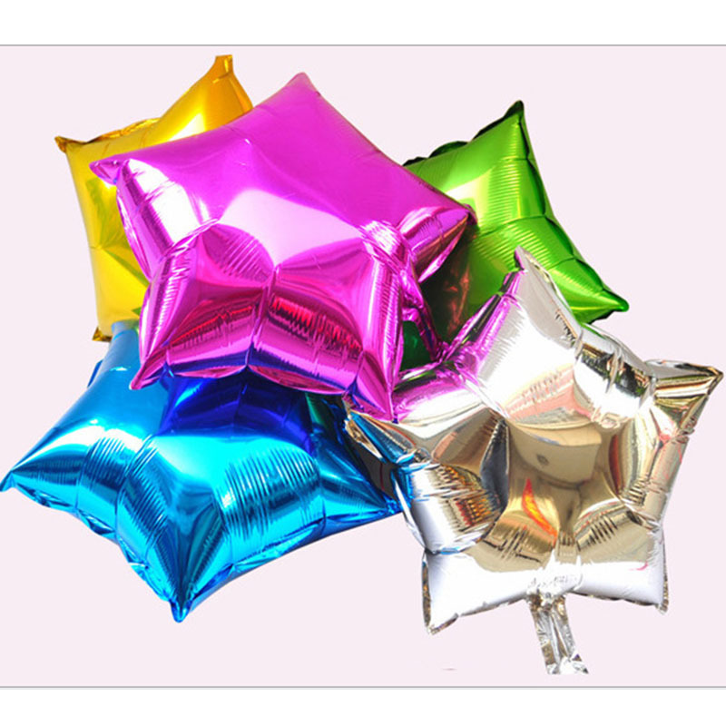2015 Wedding Decoration 10inch Star Foil Helium Party Balloons Birthday Wedding Anniversary Party Supplies WXQ006 Free Shipping