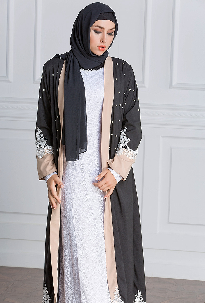 e4dc0949774 maternity clothes2018 navy blue lace long sleeve maternity dresses for  photo shoot long plus size Dubai muslim pregnant dress-in Dresses from  Mother   Kids ...