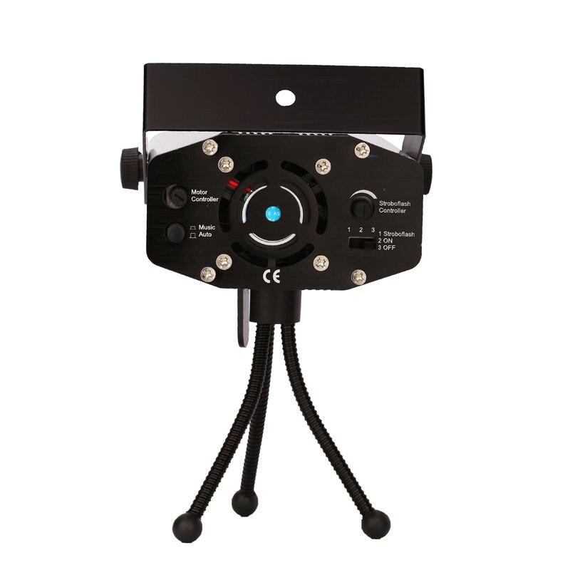 Alta calidad150MW Mini luz láser móvil roja y verde Etapa proyector - Iluminación comercial - foto 4