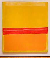 Hand Painted modern decorative canvas art mark rothko yellow color canvas pictures oil art paintings for living room bedroom