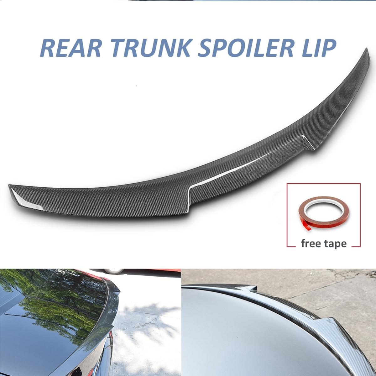 Real Carbon Fiber Rear Trunk Spoiler Lip M4 Style For Audi A6 C7 Sedan Quattro 2013-2016 Rear Wing Spoiler Rear Trunk Roof Wing a4 b7 rear roof lip spoiler wing for audi a4 b7 2005 2008 carbon fiber abt style