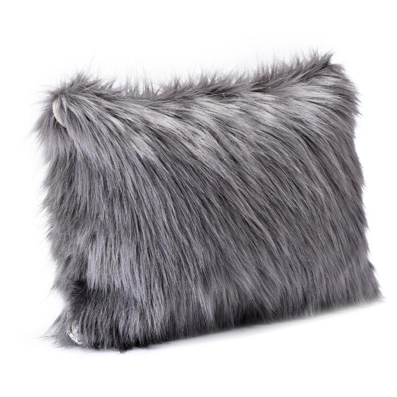 fluffy throw pillows - home ideas White Fluffy Throw Pillows