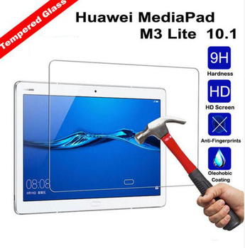 2Pcs Tempered Glass Screen Protector Film for Huawei MediaPad M3 Lite 10 10.1 inch BAH-W09 BAH-AL00 + Alcohol Cloth