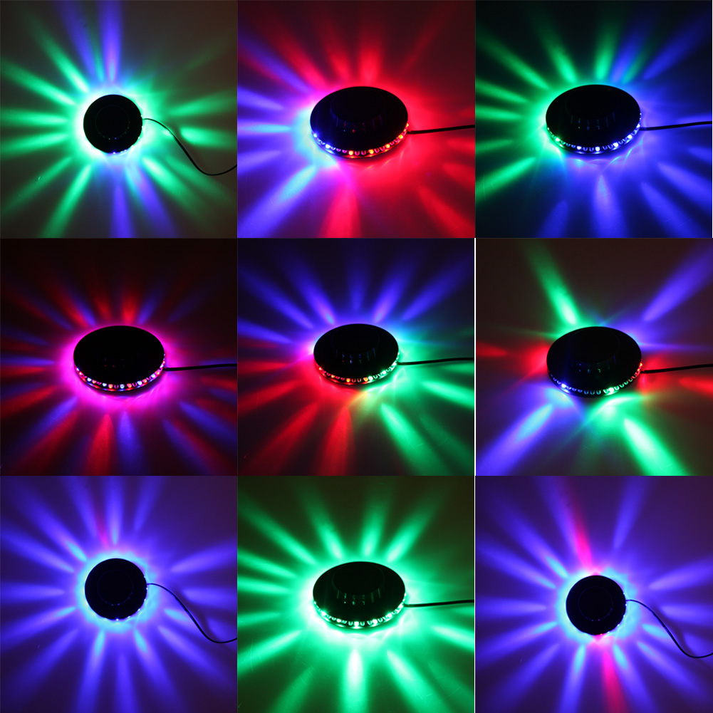 8W 90V-240V 48LED Rotating LED RGB Bulb Party Effect Bulb Lamp Disco DJ KTV Bar Stage Light