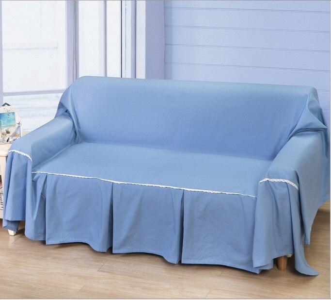 Ikea Bankhoes Verven.Katoen Sofa Cover Thuis Textiel Dubbele Covers Voor Couch Sofa