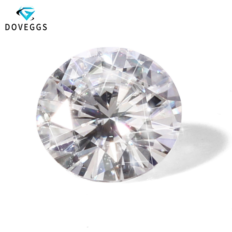 Wholesale Price TRANSGEMS 5ct 11mm EF Colorless Clear Round Cut Loose Lab Grown Moissanite Diamond Test Positive Free Shipping
