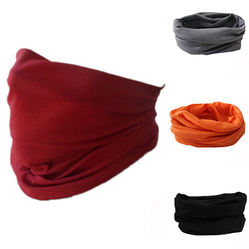 Men High Elastic Cycling Seamless Neck Scarf Bike Sport Headband
