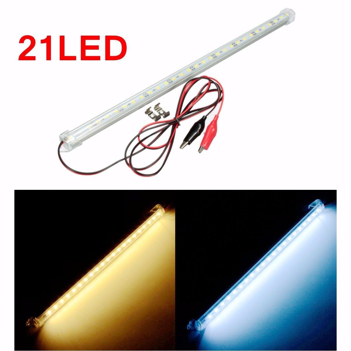 Новый 12 В 30 см автомобилей ясное СИД 5630 SMD интерьер свет прокладки бар Ван Караван аквариум