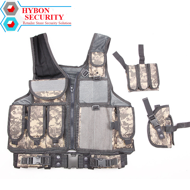 HYBON Security Men Military Tactical Vest Paintball Camouflage Molle CS Outdoor Clothing Hunting Vest Shooting Plate Carrier