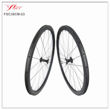 King carbon wheelsets for road bicycle 38mm 23mm 2018 new arrival aero U shape wheelsets from Far Sports lightweight 1390g