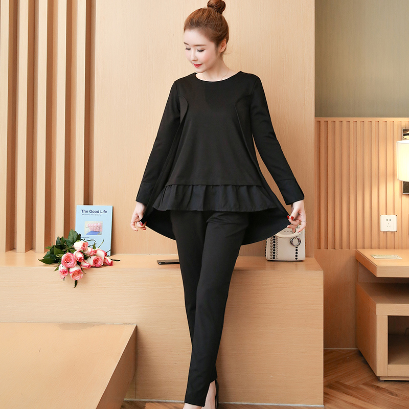 YICIYA Black Tracksuit Women 2 Piece Set Co Ord Set Outfits Plus Size Large 4XL 5XL Big Top And Pants Suits Sportswear Clothes