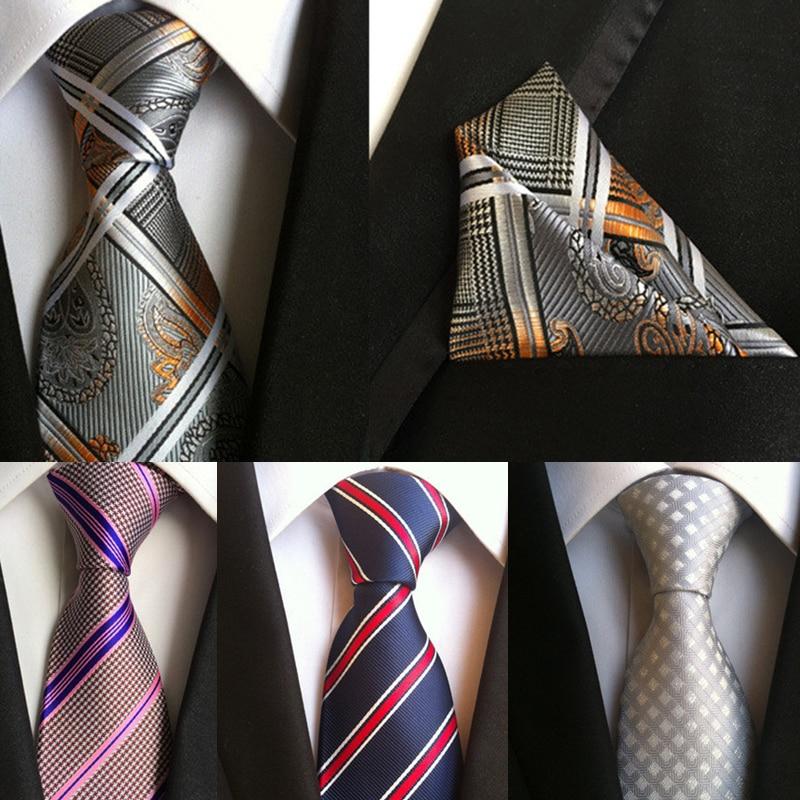 100% silk ties gravata 8 cm men