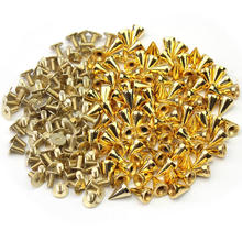 100PCS Gold Color Spikes Cone Studs DIY studs