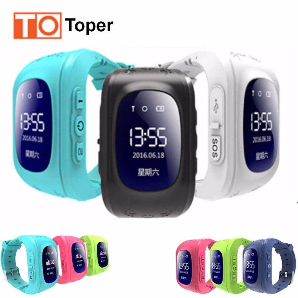 imágenes para 2017 Caliente Borracho Niños Kids Tracker GPS Reloj Inteligente Q50 reloj de pulsera con GSM GPRS Localizador GPS Smartwatch para Android IOS teléfono