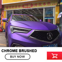 Matte Purple Chrome Brushed Vinyl Folie Film Bubble Free For Car Wrapping Size 1 52 20M