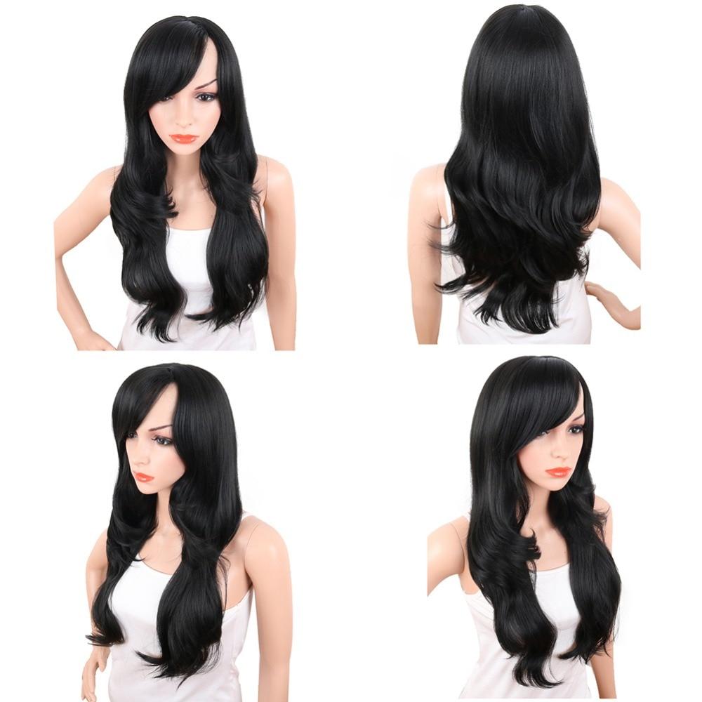 Deyngs 28inch Lång Body Wave Syntetiska Paryk För Svarta Kvinnor - Syntetiskt hår - Foto 2