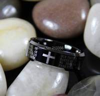 FREE SHIPPING!USA WHOLESALES CHEAP PRICE BRAZIL RUSSIA CANADA UK HOT SELLING 8MM The Lord Prayer's Ring TUNGSTEN WEDDING RING