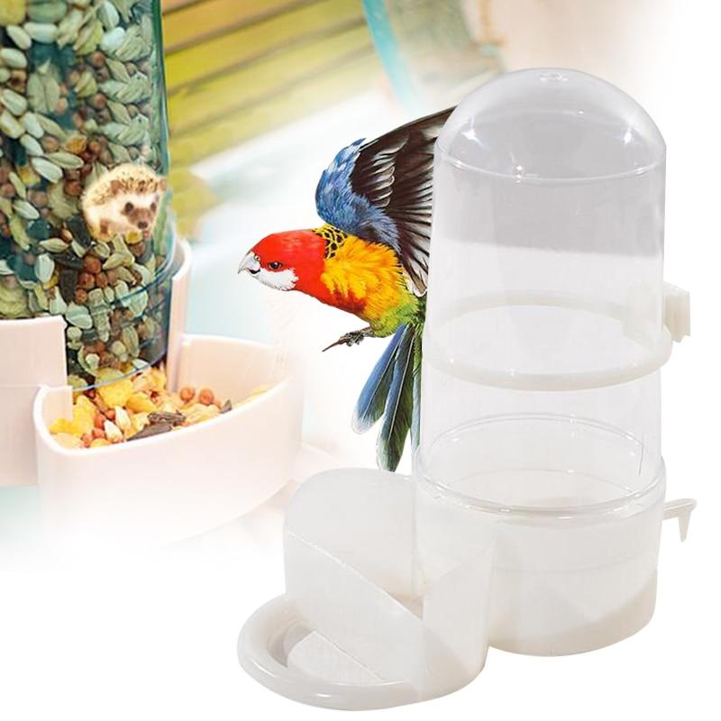 ПЭТ птица автопоилка подачи диспенсер для воды клип большой попугай Ежик