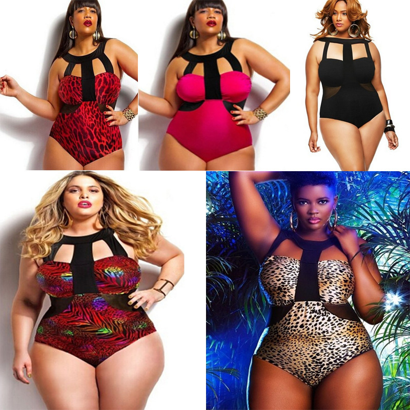 16 New Europe and the United States to increase the number of sexy plus code number piece printed Bikini Swimsuit swimsuit swims anlala europe and the united states ms leopard triangle one piece swimsuit