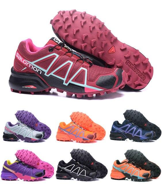 Salomon speed Cross 4 CS Cross-Country 2018 беговые кроссовки для бега на открытом воздухе амортизирующие Кроссовки Женская спортивная обувь 36-42