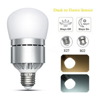Mayitr E27 B22 Dusk To Dawn LED Lamp Bulb Automatic On Off LED Bulb Sensor Energy
