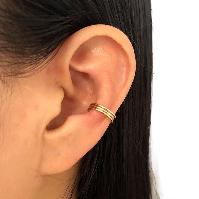 PINJEAS Handmade bar creative earrings ear cuff No Piercing minimalist wire wrap Jewelry gifts fashion