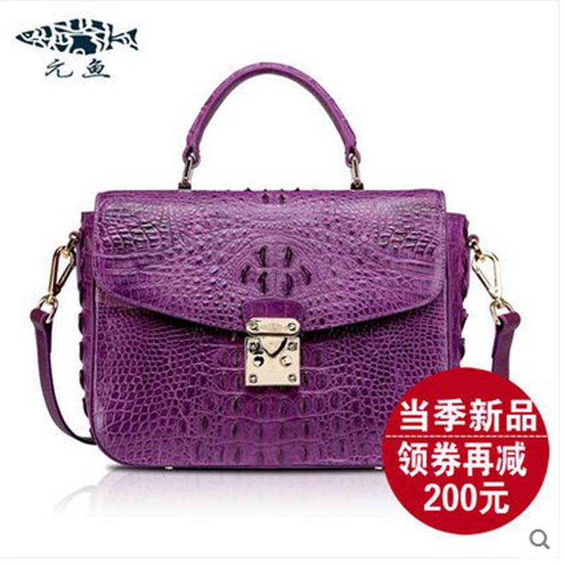 YuanYu 2018 new crocodile handbag leather women handbags  single shoulder bag yuanyu 2018 new hot free shipping crocodile women handbag wrist bag big vintga high end single shoulder bags luxury women bag