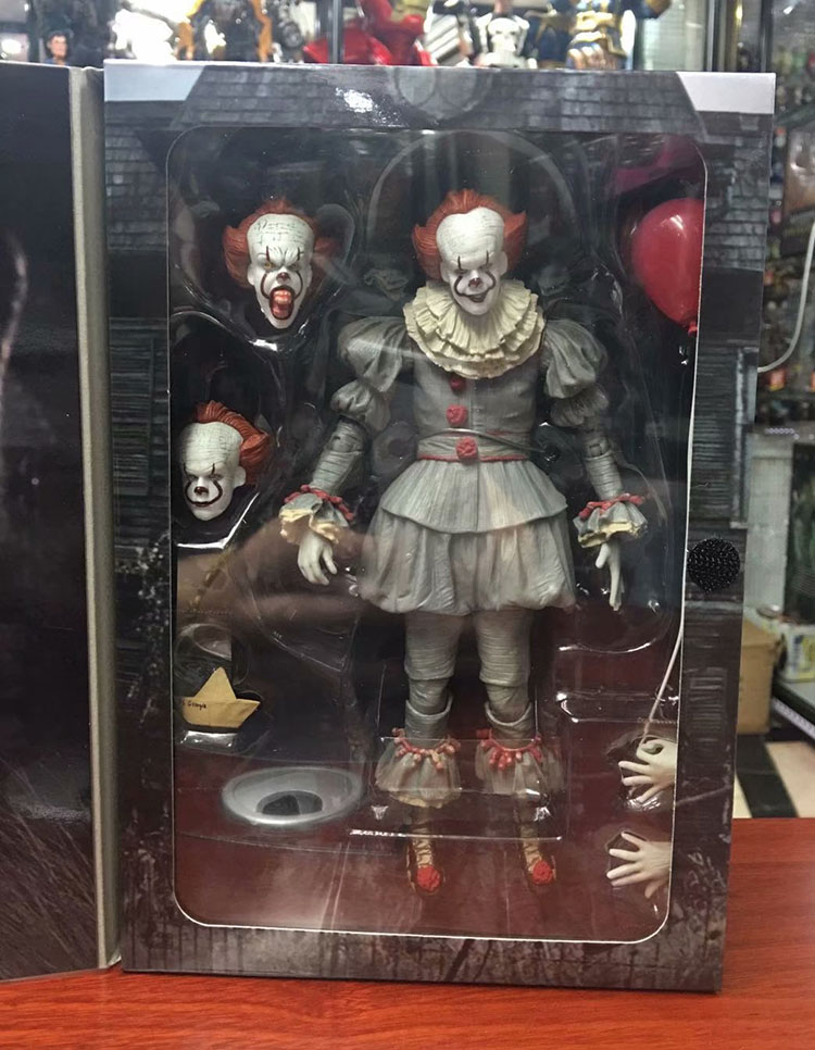 18cm 7inch anime figure Neca Stephen King's It Pennywise Joker Clown PVC Action Figure Toys Dolls Halloween Day Christmas Gift neca original stephen king s it pennywise joker clown bjd action figure toys dolls 18cm