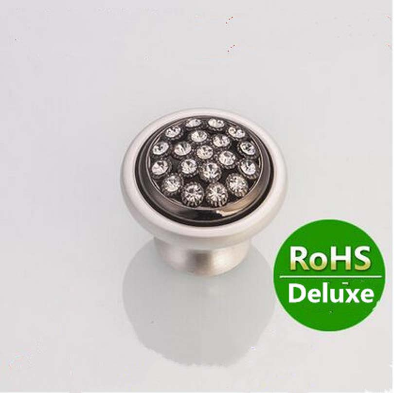 silver white diamond drawer kitchen cabinet knob handle k9 crystal dresser cupboard door pull black furniture