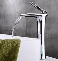 Free Shipping Torneiras Zinc Waterfall Faucet Single Hole Single Handle Basin Faucet Wholesale Retail Mixer Tap