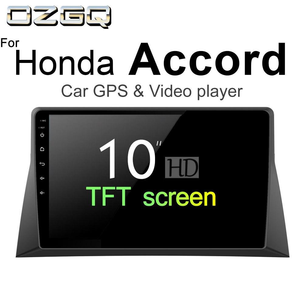 OZGQ Android 7,1 игрок автомобиля для Honda Accord 2008-2012 HD Экран Авто gps навигации Bluetooth Радио ТВ аудио видео музыка стерео