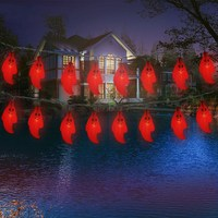 Novelty Halloween Party Decoration 20pcs Solar LED Night Light Ghost Style Party Supplies Hanging Outdoor Waterproof
