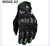 Fashion Antiskid M L XL Green Men Full finger Polyester&Cotton Motorcycle Leather Gloves