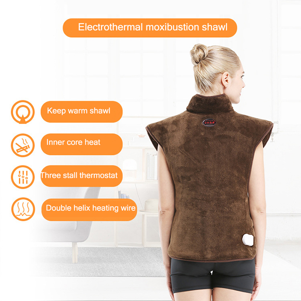 Electric Hot Compresss Heat Protector Back Shoulder Heat Pack Warm Physiotherapy Moxa Moxibustion Shawl Neck Cervical Vertebra - 5