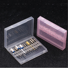 цена на Nail Polishing Head Storage Box Drill Set Box Japan Portable Grinding Machine Foundation Drill Bit Tool