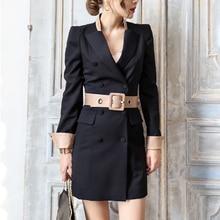 Autumn winter women dress black colour plus size bandage vestido de festa office OL slim sexy bodycon dress clothing