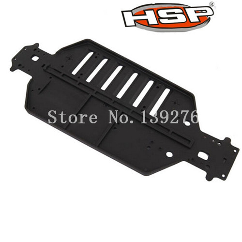 1 Pcs RC Cars HSP Parts <font><b>04001</b></font> Plastic Black Chassis Plate For 1/10 Scale Truck Buggy Car image