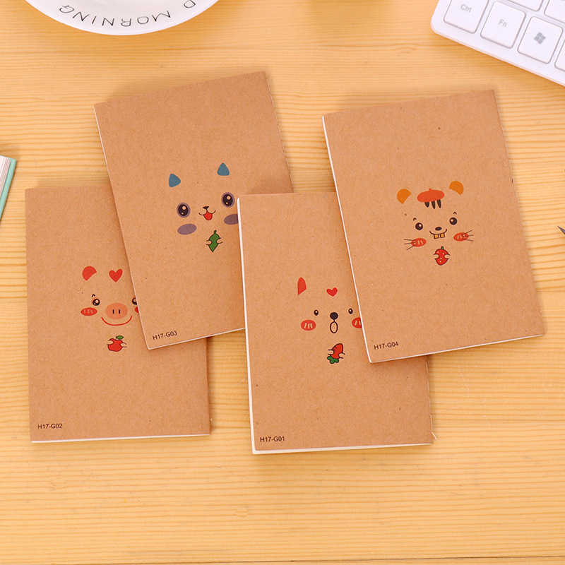 DL Kraft paper back to the ancient 64K Mini Pocket Notebook Blank inner page car line gift small gift learning stationery book