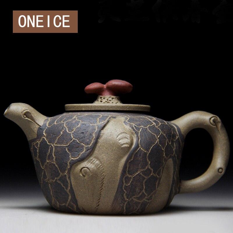 Ev ve Bahçe'ten Çaydanlıklar'de Yixing otantik Yi xing demlik ünlü el yapımı çaydanlık maden bölüm çamur yazar Zhang Chengxiu Drinkware 260ml'da  Grup 1