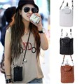 2016 new fashion PU leather small woven pattern woman shoulder bags  cell phone pouch cross body bag VY