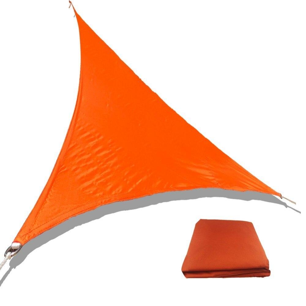US $17 91 35% OFF|Garden Sun Shade Courtyard Shade Sails High Quality  Polyester Cloth Waterproof Shade Sails Triangular Sail Metal Buckle  Model-in
