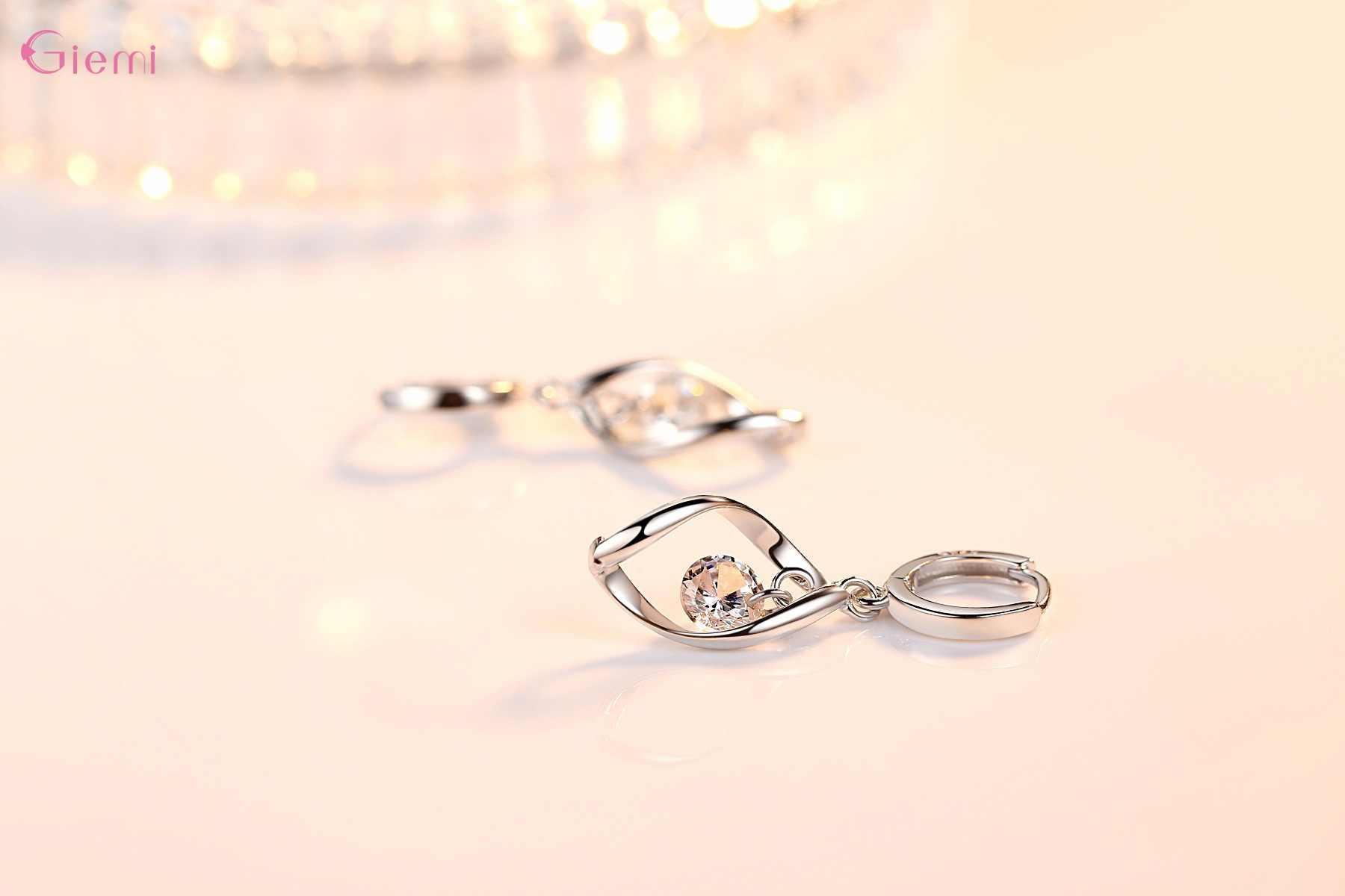 ใหม่ชุดเครื่องประดับอินเทรนด์ 925 เงินสเตอร์ลิง Cubic Zirconia Pearl Handmade หมุนรักผู้หญิง Drop ต่างหูจี้สร้อยคอ