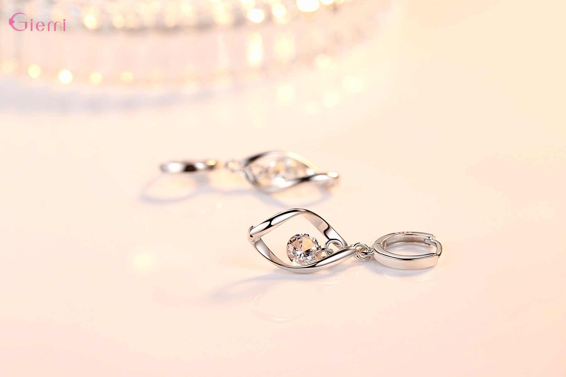 Nova Moda Conjunto de Jóias 925 Sterling Silver Cubic Zirconia Pérola Rotação Artesanal de Amor Mulheres Gota Brincos de Pingente de Colar