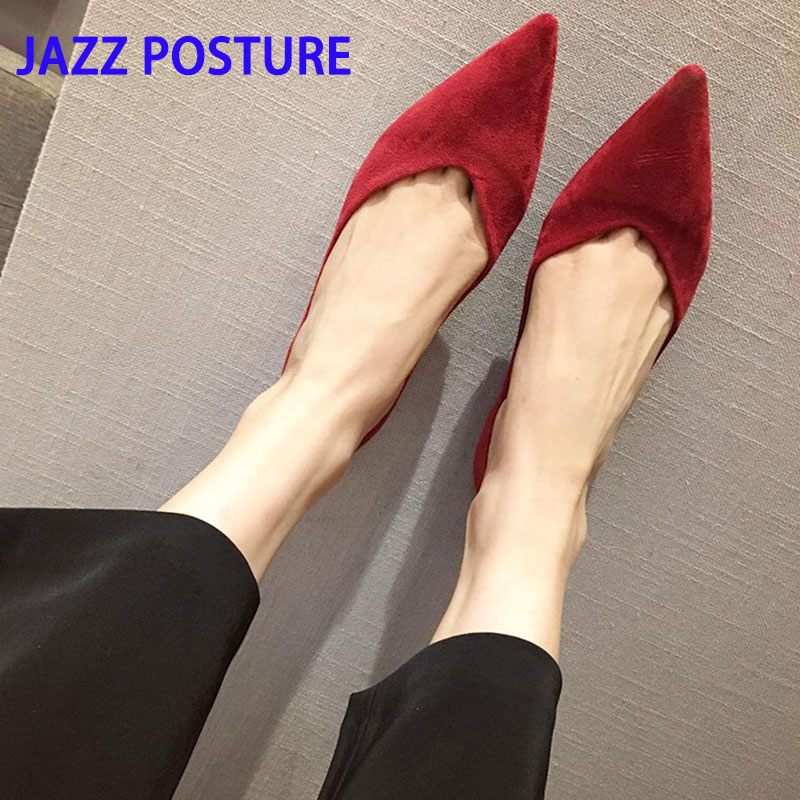 Spring ladies flat shoes fashion comfortable pointed shallow mouth ladies casual shoes black red blue suede shoes XL 35-43 y135Spring ladies flat shoes fashion comfortable pointed shallow mouth ladies casual shoes black red blue suede shoes XL 35-43 y135